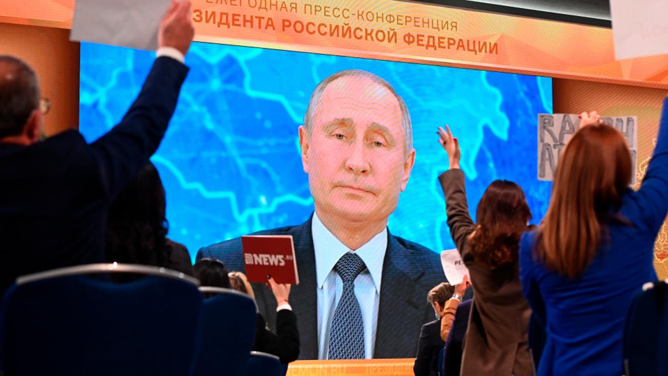 Антирекорд путинских пресс-конференций: число вопросов от иностранных СМИ  сократилось с двух десятков до двух